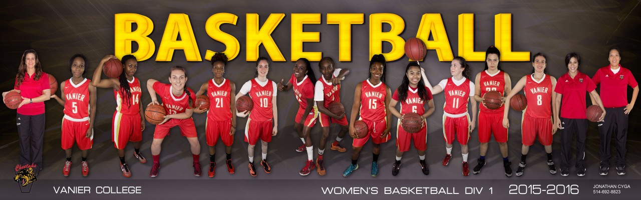 Division 1 Women's Basketball Cheetahs - 2015-2016 Team Photo