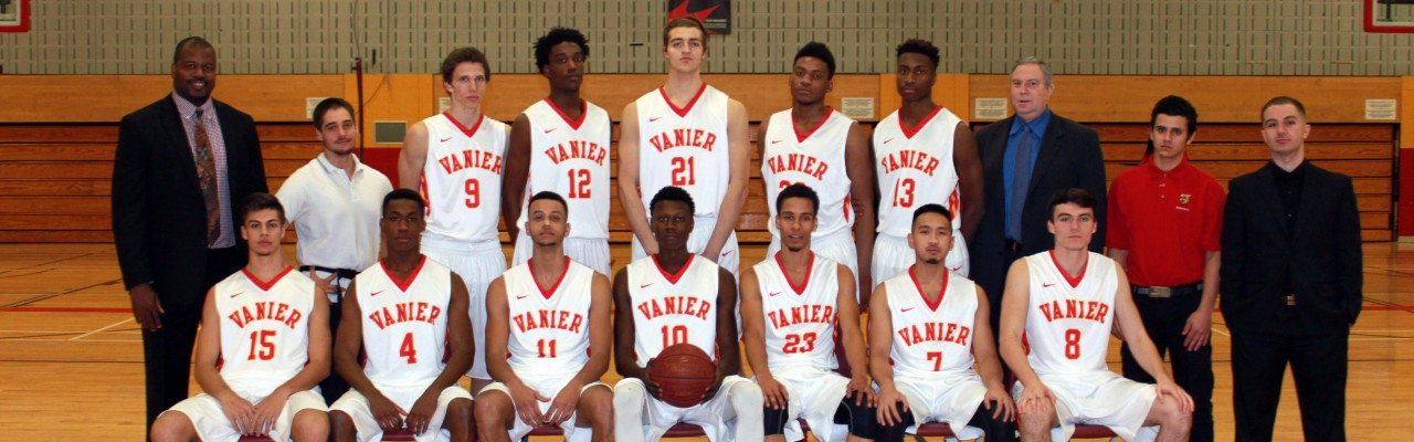 2015-2016 Div.1 Men's Basketball Cheetahs - Team photo