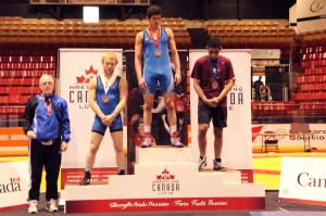 Guseyn Ruslanzada and Francis Carter on podium