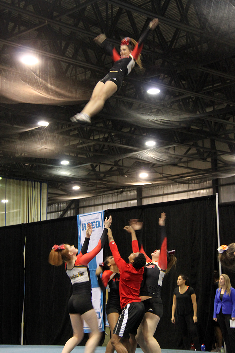 Cheerleading Team And Action Photos Athletics