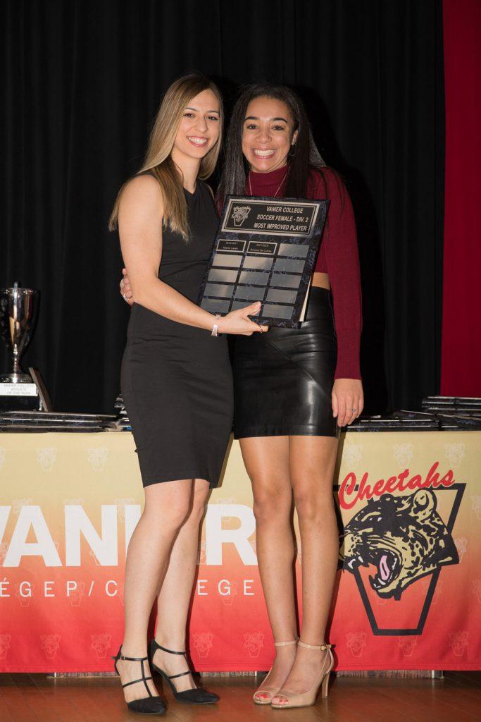 Women's Div.2 Soccer: Most Improved Player - Brianna De Coteau.