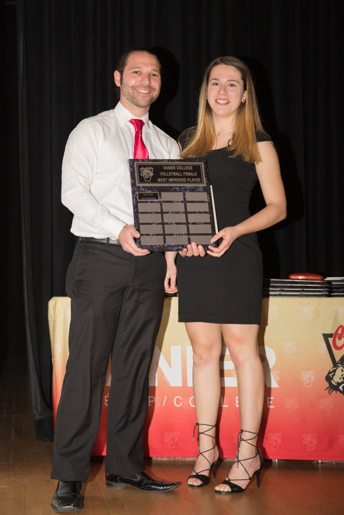 Women's Div.2 Volleyball: Most Improved Player - Zoe Duchesneau.