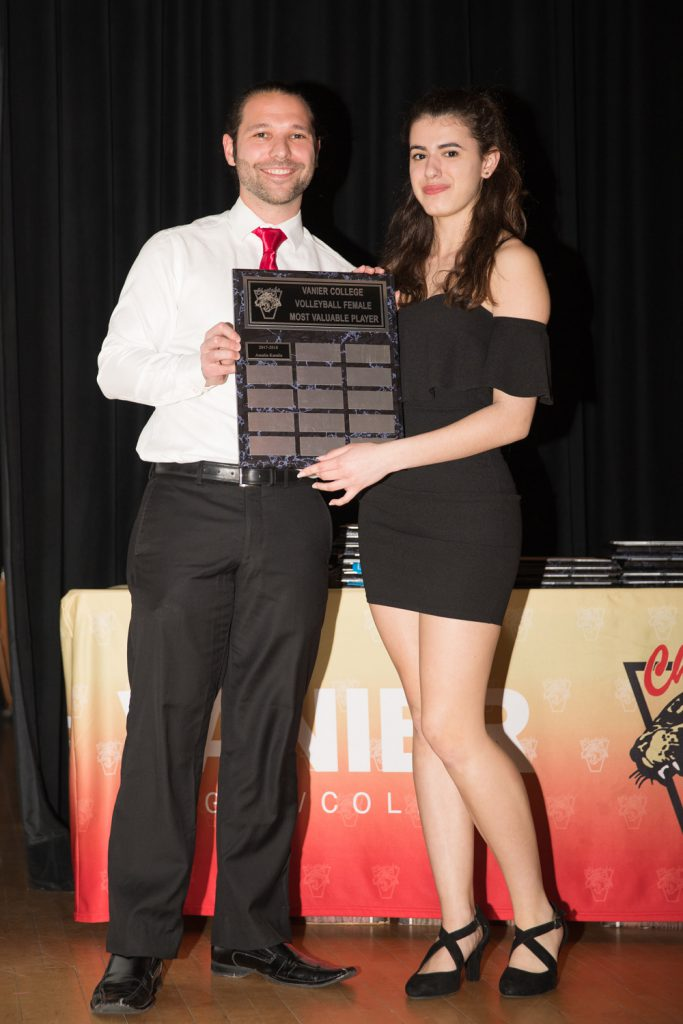 Women's Div.2 Volleyball: Most Valuable Player - Amalia Karalis.