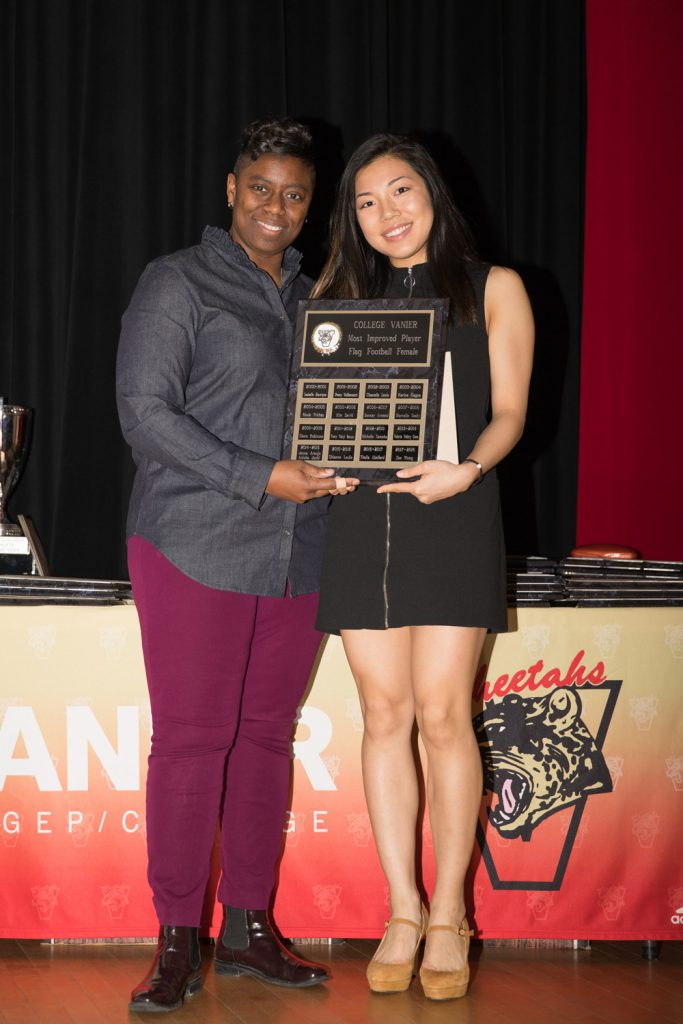 Flag Football: Most Improved Player - Zoe Wong.