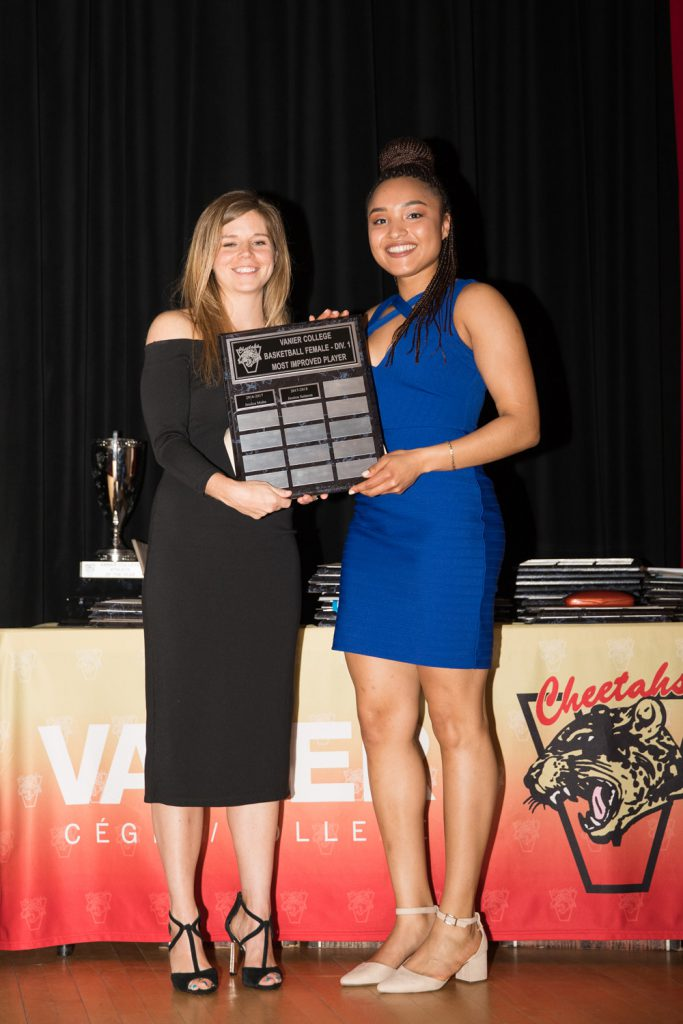 Women's Div.1 Basketball: Most Improved Player - Jessica Salanon.