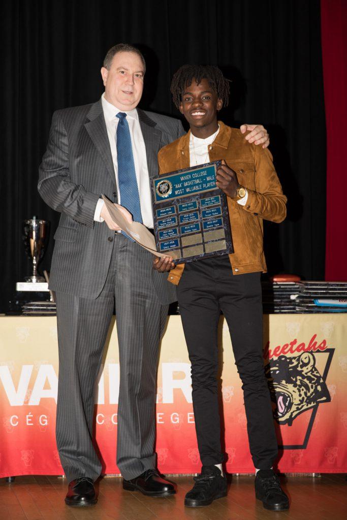 Men's Div.1 Basketball: Most Valuable Player - Steeve Joseph.
