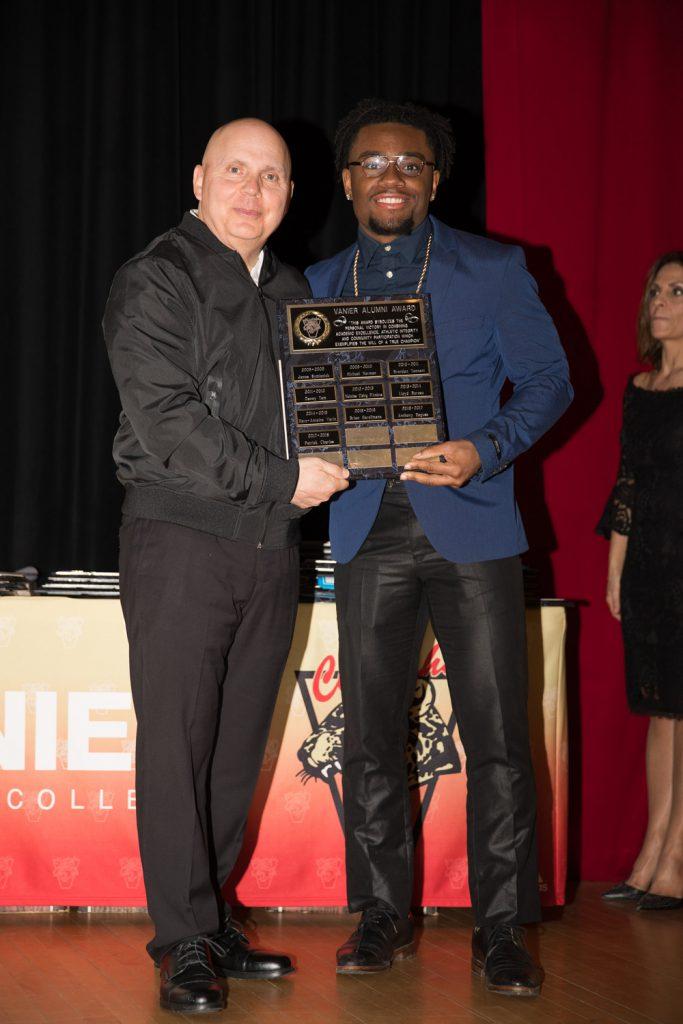 Football Alumni Award - Patrick Charles.