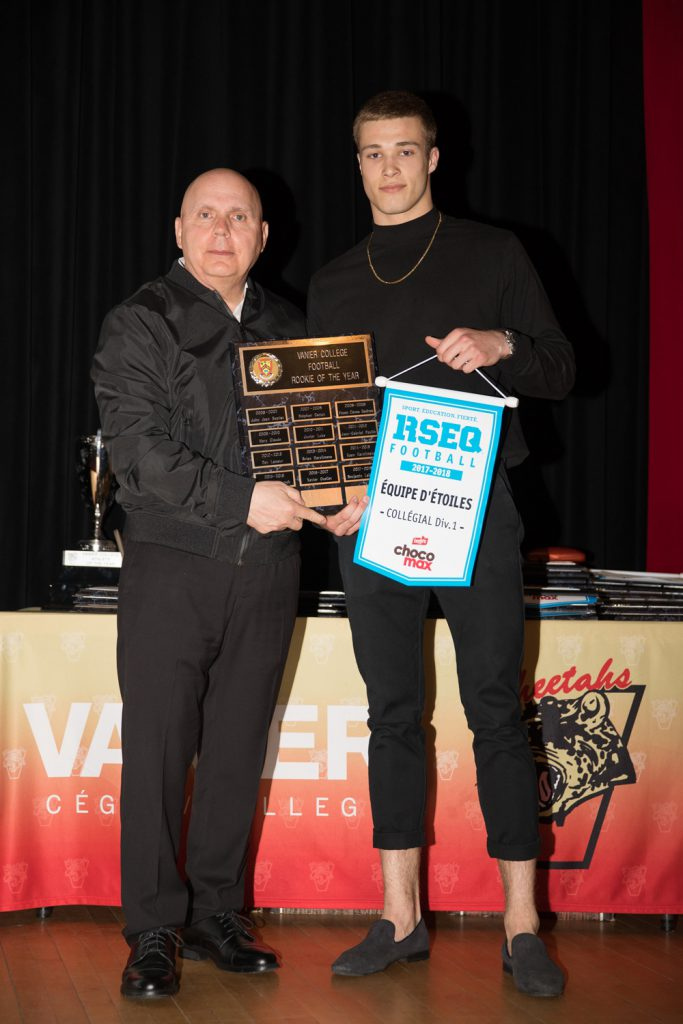 Men's Div.1 Football: Rookie of the Year - Benjamin Labrosse.