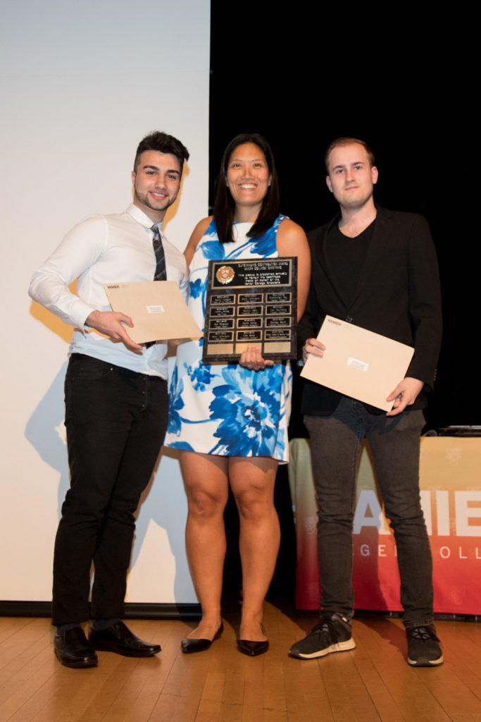 Outstanding Contribution Award winners - Michael Arabian and Jonathan Cyga.
