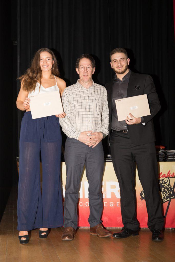 Lloyd Elder Scholarship Award winners - Julian El Hajj and Jessica Muha.