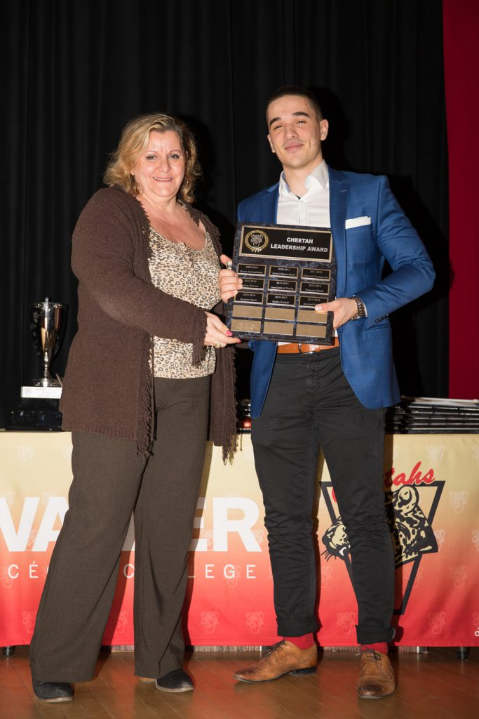 Cheetah Leadership Award winner - Michael Polisena.