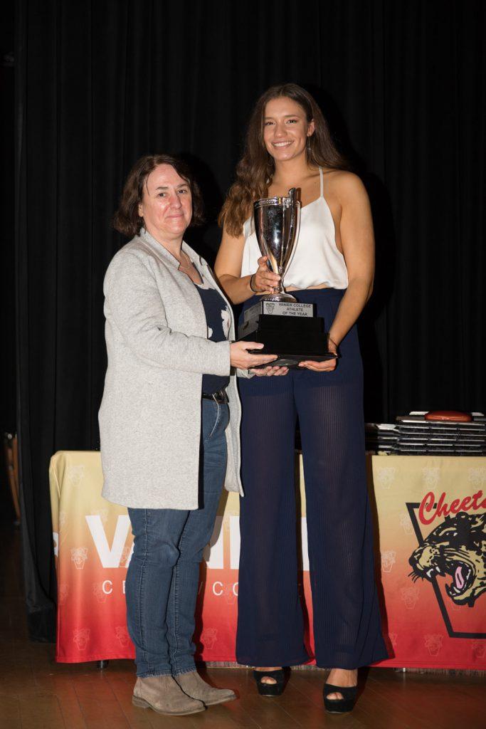 Female Athlete of the Year Award winner - Jessica Muha.