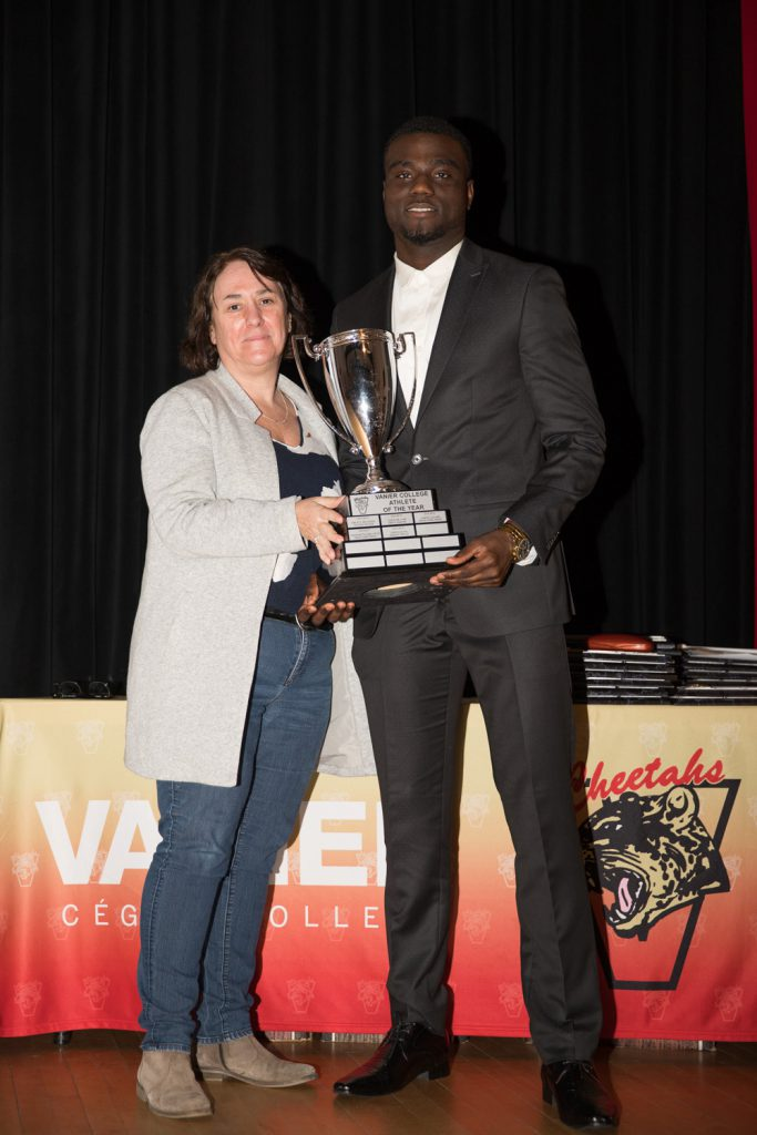 Male Athlete of the Year Award winner - Samuel Emilus.