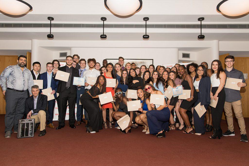 Academic Award Winners group photo.