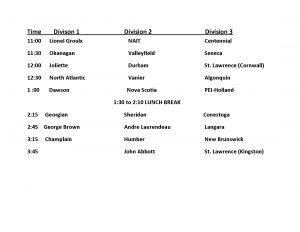 Case Challenge 2011 Presentation Schedule