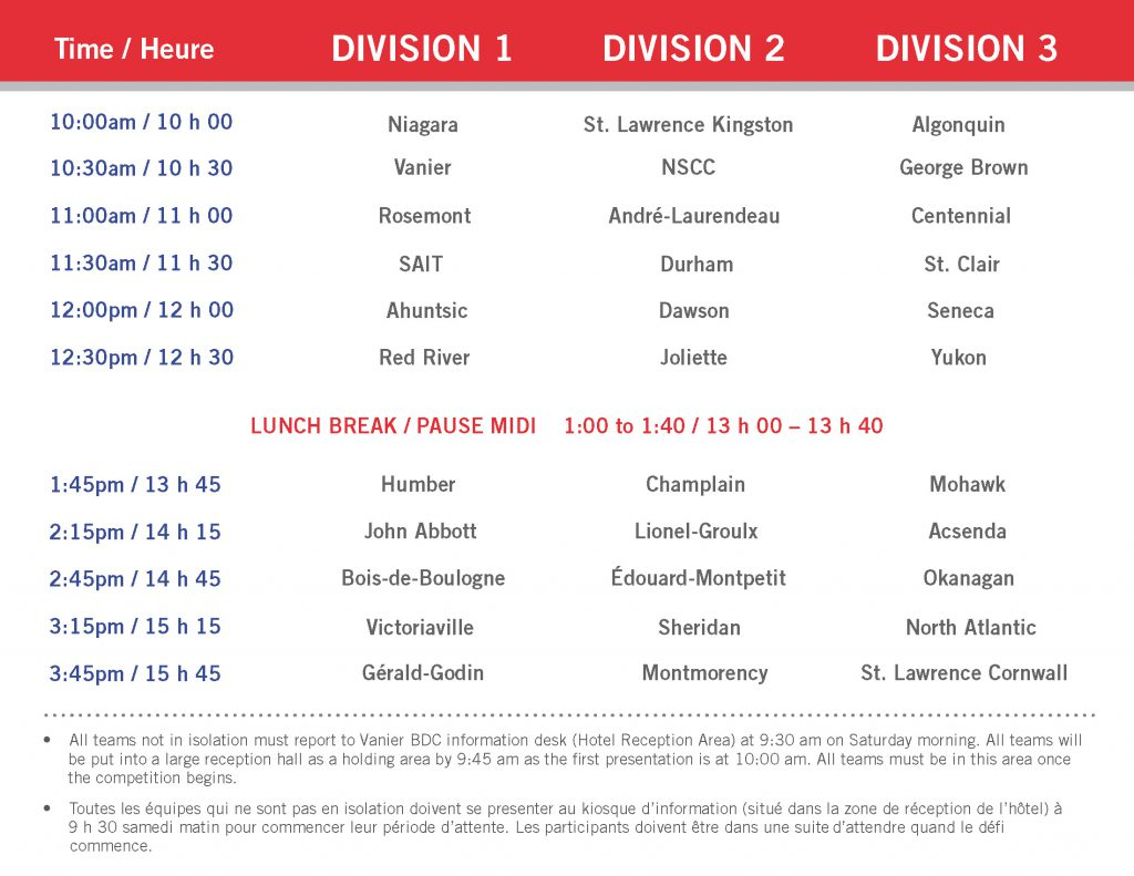 Presentation Schedule 2014