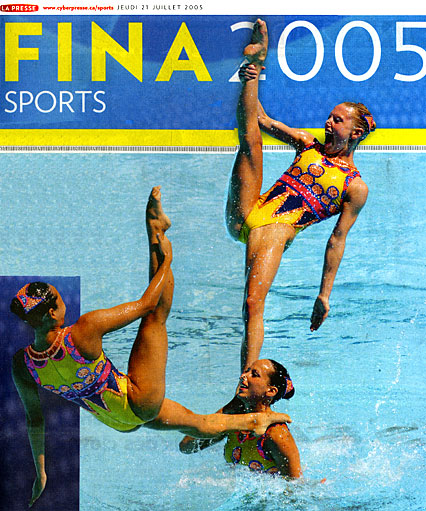 ... megan at the top graced the cover of the special fina 2005 section of