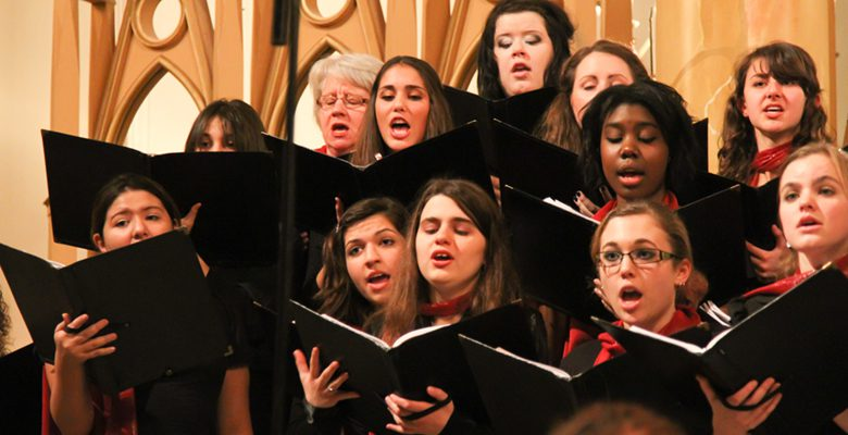A Large Choir with major performances every semester