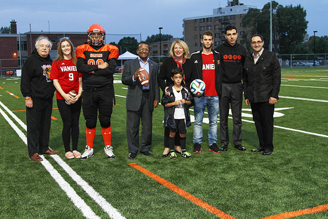 Inauguration of Vanier College Synthetic Playing Field