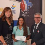 Rose Morissette with Patricia Demers, Executive Director of FAEQ and Jean-Pierre Beaulieu, Executive Director of Golf Québec.
