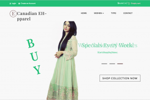 Canadian Eh-pparel, an online store